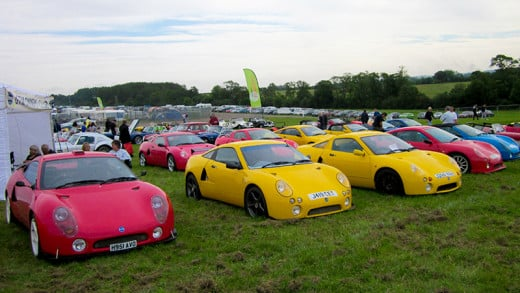 The GTM Owners Club at the Donington Kit Show