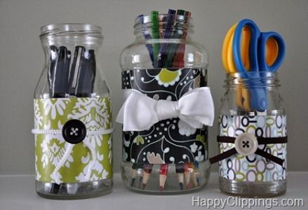 decorated glass bottles. Repurposed Containers 88 Outstanding Craft Projects Using Glass Jars  FeltMagnet