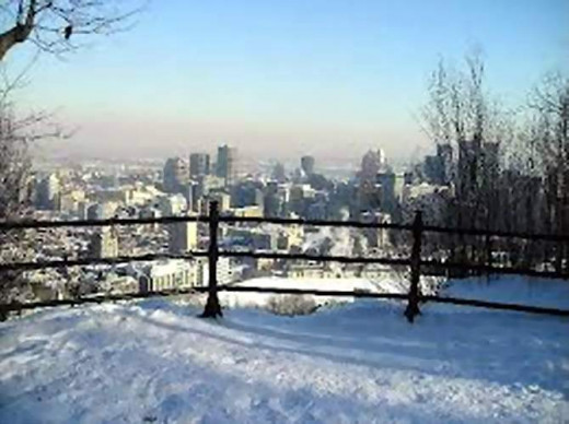 Tourism Montreal ~from the Mount Royal lookout.