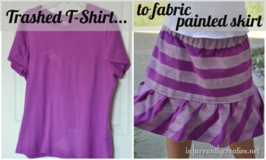 lavendar-t-shirt-redo-to-painted-stripe-skirt