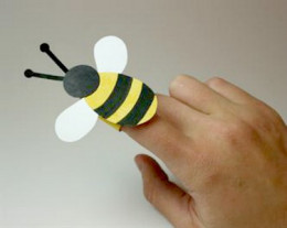 bee paper hand puppet template bee crafts for all 5934