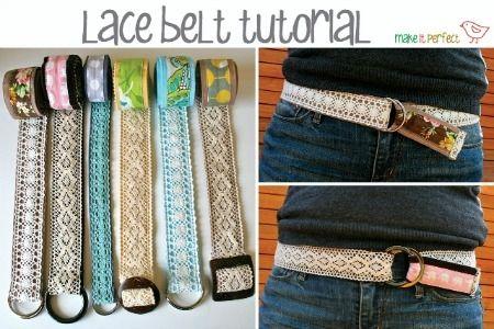 lace fabric belts