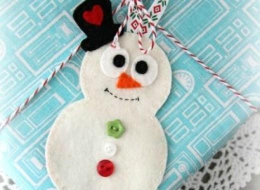 felt snowman ornament.
