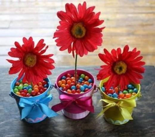 jelly bean flower pot favor