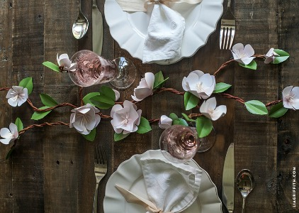 apple blossom table garland
