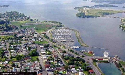 Valleyfield marina aerial view