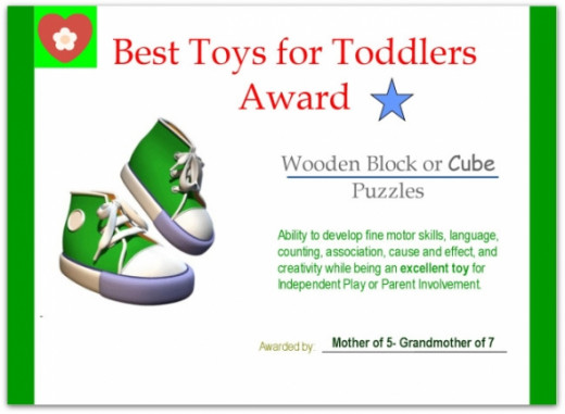 Best Toys for Toddlers Wooden Cube Puzzles