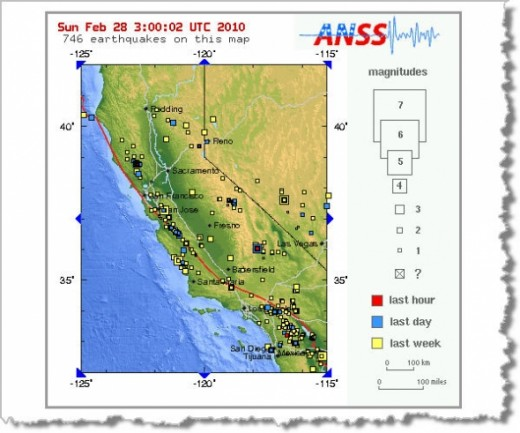 Feb 27, 2010 Earthquake activity in CA