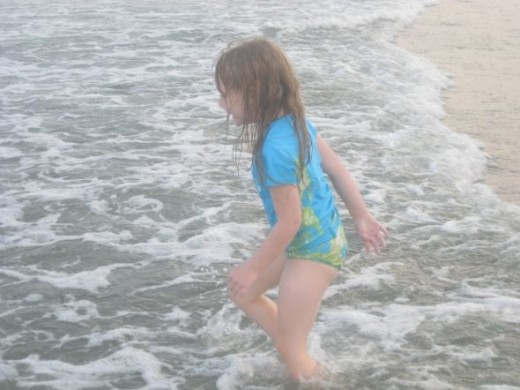 Easy for little ones to walk into the ocean