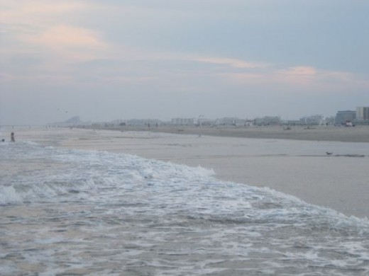 wildwood nj beach before the storm