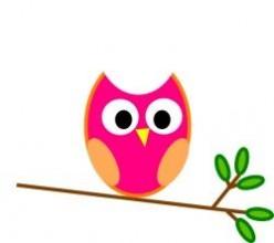 Cute Pink Owls
