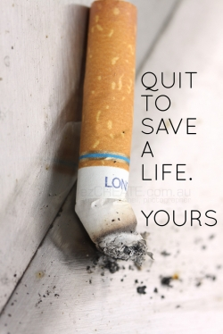 Get help with quitting smoking. It makes it so much easier!