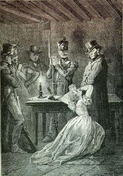 Fantine in the original illustrations for Victor Hugo's novel.