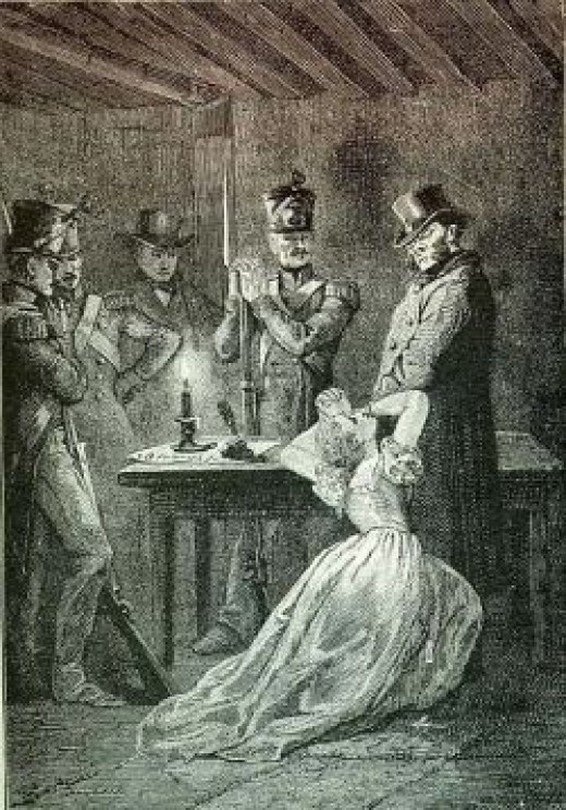 Fantine in the original illustrations for Victor Hugo's novel.