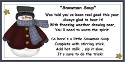 snowman soup recipe card
