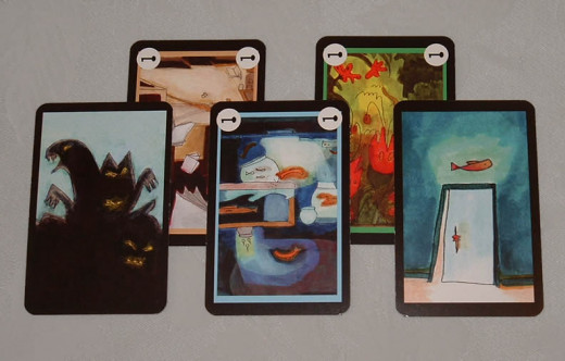 Nightmare card, key cards, door card