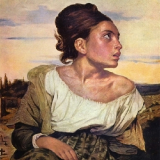Young Orphan Girl by Delacroix, 1823