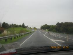 Entering a suburb of Auckland