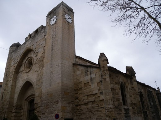 Church inside of the Aigues-Mortes Castle