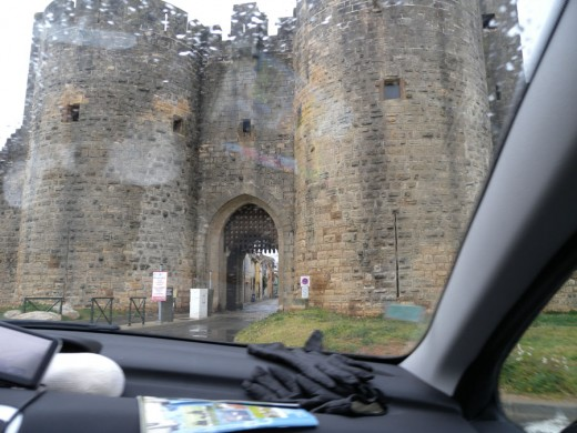 Driving up to the door of Aigues - Mortes