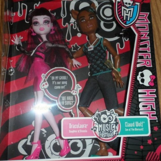 Music Festival Draculaura and Clawd Wolf Doll