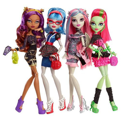 Ghouls Night Out 4 Pack Monster High Dolls