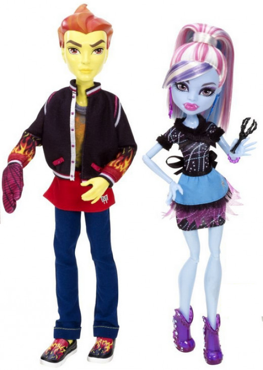 Home Ick Abbey Bominable and Heath Burns Doll, 2-Pack