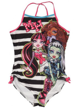 Monster High One Piece Stripe Bathing Suit