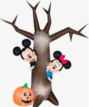 Inflatable Halloween Tree with Mickey & Minney Mouse