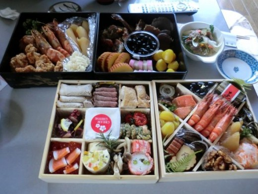 Carefully prepared Japanese New Year's food called osechi