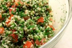 Fresh and Healthy Mediterranean Salad Recipe Called Either Tabbouleh, Tabouli Including Bulgar Wheat