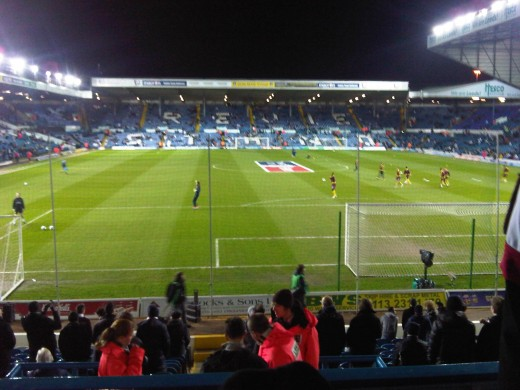An Evening Cup Tie At Elland Road - Home Of Leeds Utd