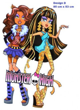 """Largest 33"""" Monster High Clawdeen Wolf, Cleo De Nile HUGE Giants Wall Stickers Childrens/kids Home - Decors Mural Art Nursery Decal (Decowall-stickers)"""