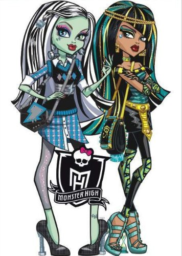 """33"""" Monster High Frankie Stein, Cleo De Nile HUGE Largest Giants Wall Stickers Childrens/kids Home - Decors Mural Art Nursery Decal (Decowall-stickers)"""
