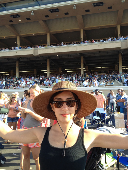 I'm holding court at the racetrack. IN THE HAT.