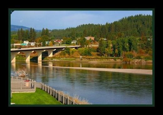 Bridge over the Kootenai River in Bonners Ferry, Idaho