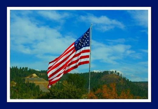American Flag in Bonners Ferry