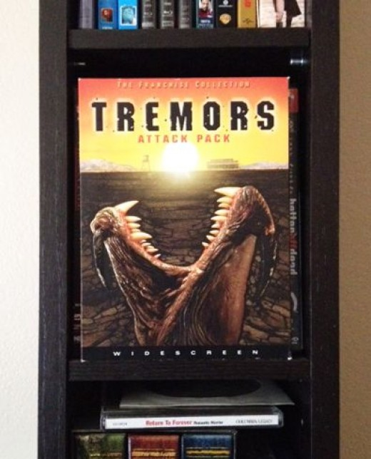 Our copy of the Tremors ATTACK PACK. The original is so much better than the sequels, it practically eats it.