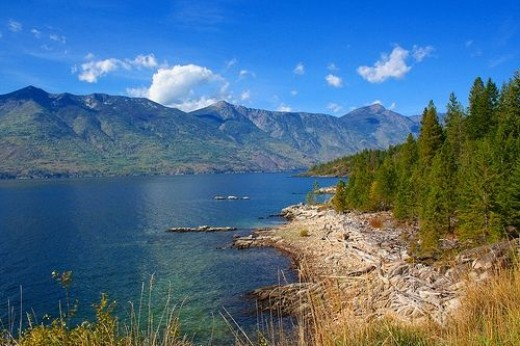 Gorgeous view of Kootenay Lake