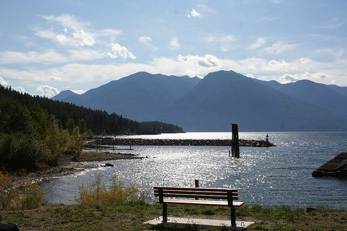 The Bench overlooking the Kootenay Bay