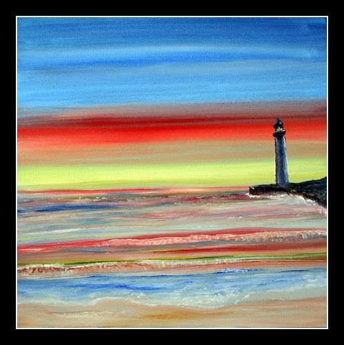 "Lighthouse Oil Painting ""Imagine"""
