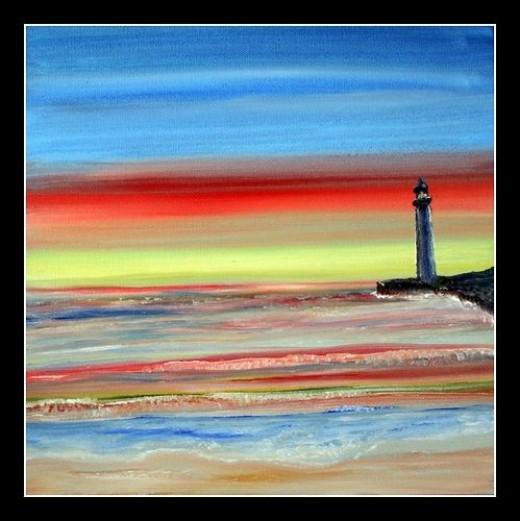 "Lighthouse Oil Painting ""Imagine"""