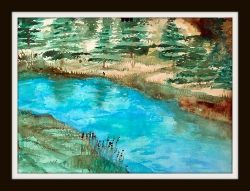 A Creek by Linda Hoxie