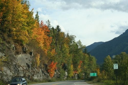 The Fall colors in British Columbia