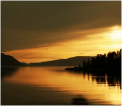 Beautiful Lake Pend Oreille in Idaho