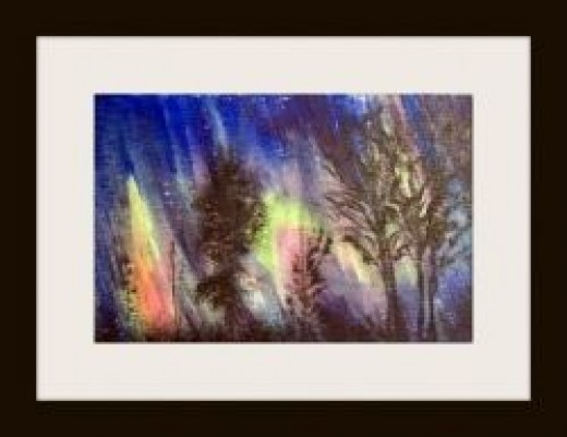 The aurora borealis by artist Linda Hoxie