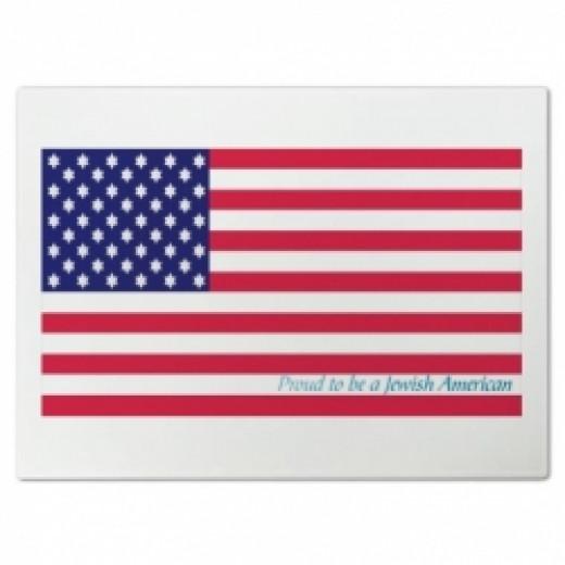 Proud Jewish American Cutting Board
