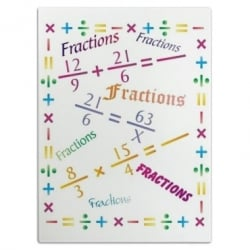 Fractions Cutting Board