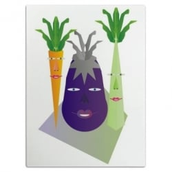 Veggies on Parade Cutting Board