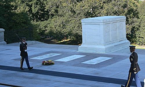 The changing of the Guards of the Unknown soldier